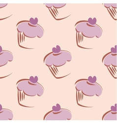 Tile cupcakes pattern vector image vector image