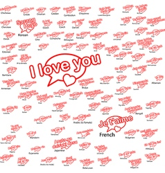 Word i love you in different language vector