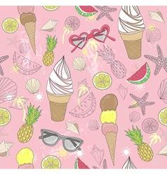 Cute summer abstract pattern vector