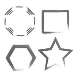 Watercolor Geometric Shapes vector image