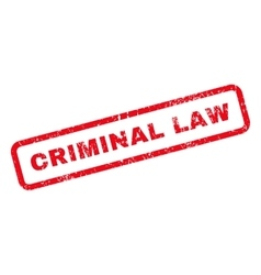 Criminal law text rubber stamp vector