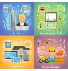 Architect 2x2 Design Concept vector image