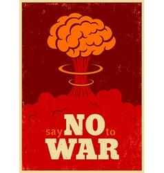 no war red vector image