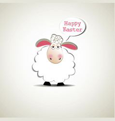 Easter funny sheep vector