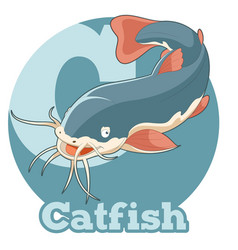 Abc cartoon catfish vector