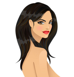 portrait of beautiful fashionable girl vector image