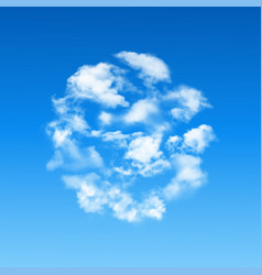 round shape made of clouds vector image