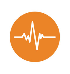 heartbeat waves symbol vector image