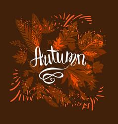 Autumn dark card vector