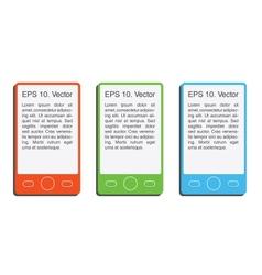 Flat smartphone design elements eps10 vector