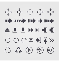 set of different arrows signsymbol vector image