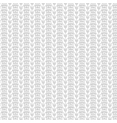 White knitted seamless pattern vector