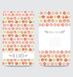 Watercolor cards set vector