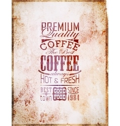 Set of vintage retro coffee vector