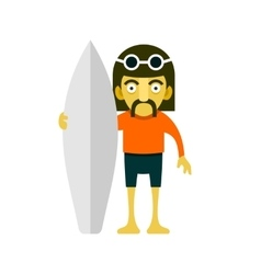Surfer men cartoon style vector