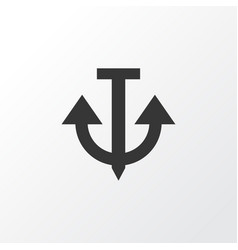 Anchor icon symbol premium quality isolated vector