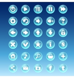 Big kit of buttons with different images for the vector image vector image