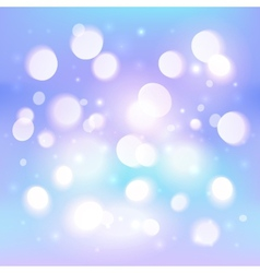 Blue abstract shining light bokeh effect vector image