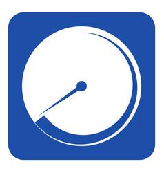 blue white sign - gauge dial symbol vector image