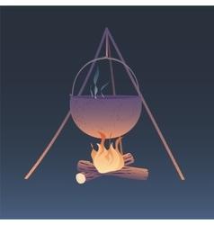 Camping bonfire vector image