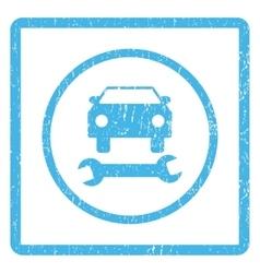 Car repair icon rubber stamp vector