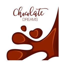 Chocolate background with copy space vector