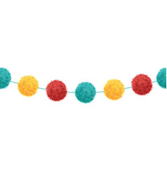Cute birthday party pom poms set on a vector