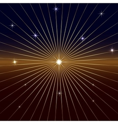Dark background with star and rays vector