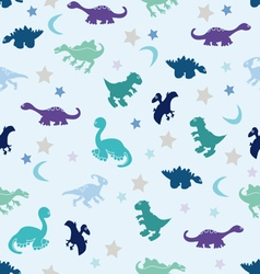 Dinosaur among the stars vector image vector image