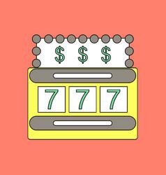 Flat icon design collection jackpot machine casino vector