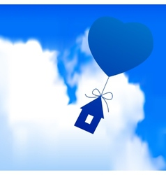 Flying house vector