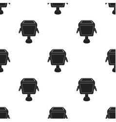 Garbage can icon in black style isolated on white vector