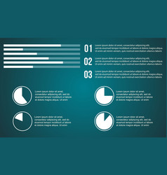 Graphic and diagram style business infographic vector