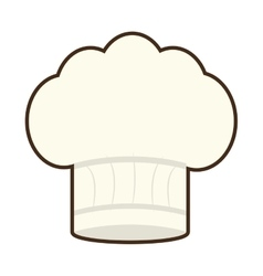 hat chef cook restaurant icon vector image