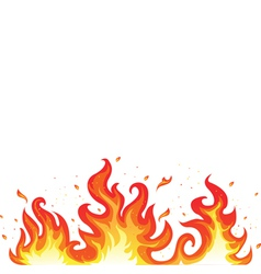Hot fiery flames vector image
