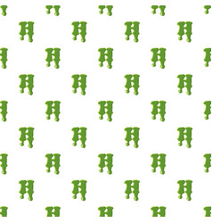 Letter h made of green slime vector