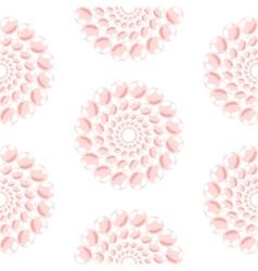 Nacreous pearl pink circles seamless pattern vector