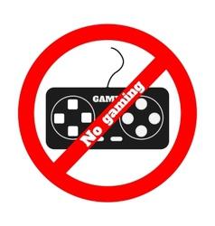 No gaming vector image vector image
