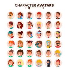 People avatars set default character vector
