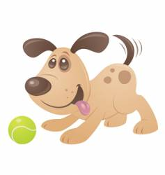 playful puppy vector image vector image