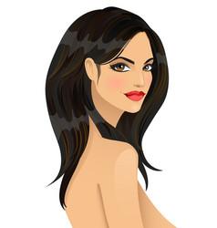 portrait of beautiful fashionable girl vector image vector image