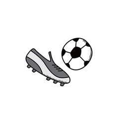 soccer cartoon icon theme vector image
