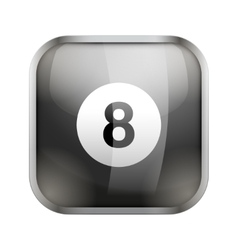 Square icon for billiard app or games vector image vector image