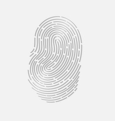 Touch fingerprint id app with shadows vector image vector image
