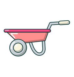 wheelbarrow icon cartoon style vector image vector image