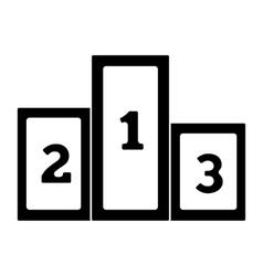 Winners podium simple icon vector image