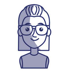 young woman with glasses avatar character vector image vector image