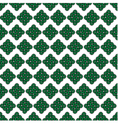 celtic style endless knot symbol seamless pattern vector image