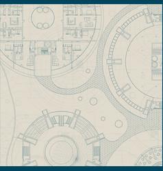 Architectural blueprint vector