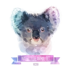 Set of watercolor  cute coala vector
